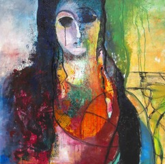 Iranian woman, Nasrin Barekat