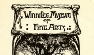 Title page of the exhibition catalogue to the Winnipeg Museum of Fine Arts opening exhibition,