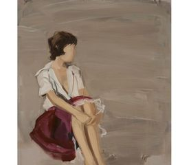 Untitled (Girl with White Shirt), Gideon Rubin