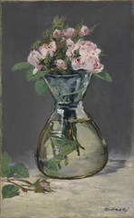 Moss Roses in a Vase, Édouard Manet