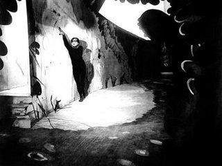 Set photograph from the film The Cabinet of Dr. Caligari,