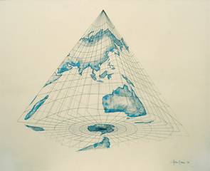 Isometric Systems in Isotropic Space - Map Projections: The Pyramid (The World from Below), Agnes Denes