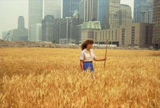 Wheatfield – A Confrontation: Battery Park Landfill, Downtown Manhattan ,Agnes Denes