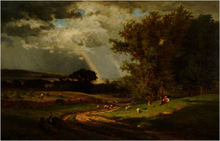Passing Shower,George Inness