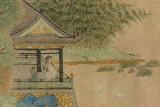 Wang Xizhi Watching Geese (detail). China,Qian Xuan
