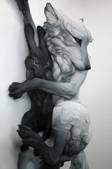 The Sentimental Question (detail), Beth Cavener Stichter