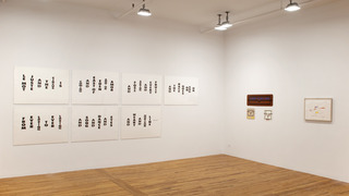 Conceptual Language, installation view,Allen Ruppersberg, Lawrence Weiner