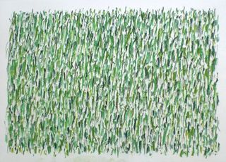 """untitled (green:19x) "", 120707,herman de vries"