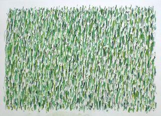 """untitled (green:19x) "", 120707, Herman de Vries"