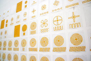 Benjamin Nicholson, hand-drawn labyrinths exhibited at the 2008 Venice Architecture Biennale.,