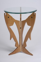 SALMON RUN END TABLE,Dennis Esquivel