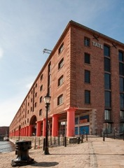 The Tate Liverpool gallery building, on the Albert Dock,
