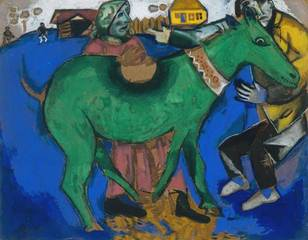 The Green Donkey,Marc Chagall