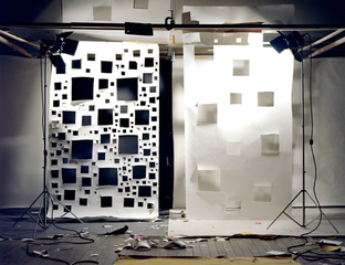 """No. 592 """"Holes in White to Black and Holes in White to White"""", David Haxton"""