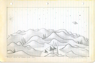 """First View of Pyramidia"", from the Notebooks of Dr. Thelonious Tinker,David Horton"