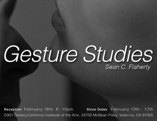 Gesture Studies Invite,Sean C. Flaherty
