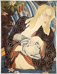 AIDS Series/Mother and Child,Masami Teraoka
