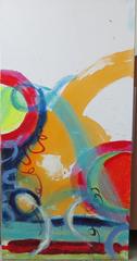 Walking on Sunshine, Triptych, panel #1, Ruth Kolman Brophy