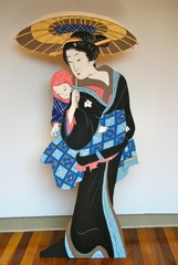 After Eizen: Woman with Parasol and Baby, Susan Sills