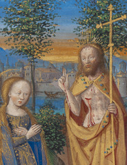Master of the Chronique scandaleuse French, Noli me tangere (detail),