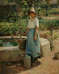 Josephine in the Garden,Theodore Robinson