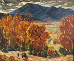 NM Street Scene ,Eleanora Morgan Kissel