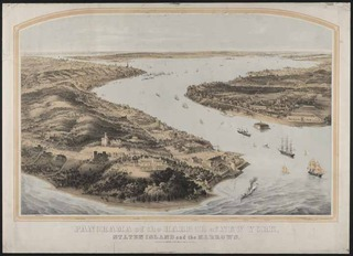 Panorama of the Harbor of New York, Staten Island and the Narrows,