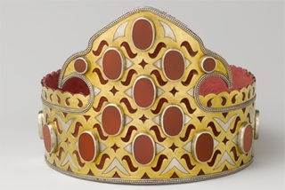 Headdress, Central Asia or Iran,