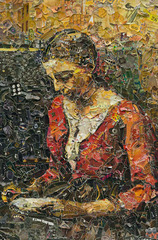 Pictures of Magazine 2 Girl Reading, after Jean Baptiste Camille Corot  , Vik Muniz