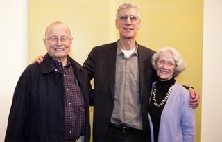 Barclay Simpson, President Stephen Beal, Sharon Simpson,