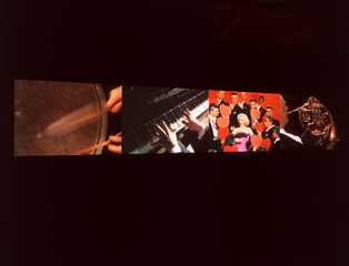 Video Quartet (installation view),Christian Marclay