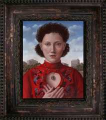 Young Woman With Red Sweater, Amy Hill