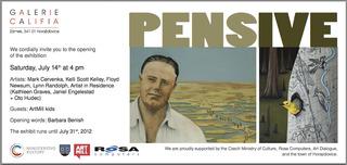 Pensive, Exhibition Invitation