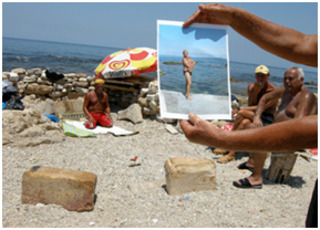 Moment 4, photography from the project The Sea Is A Stereo ,Mounira Al Solh