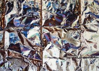 Foil Grid Fold, Kathleen Ballard