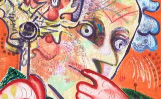 Ear on Fire (detail), Dana Schutz