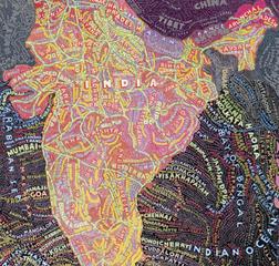 India (detail), Paula Scher