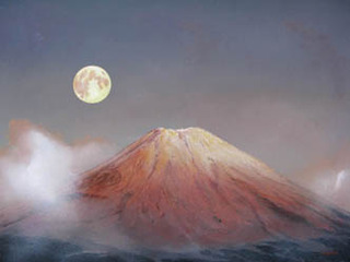 Fuji Mountain & Moon, Dag Hol