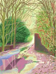 """The Arrival of Spring in Woldgate, East Yorkshire in 2011 (Twenty Eleven)"" (One of a 52 part work), David Hockney"
