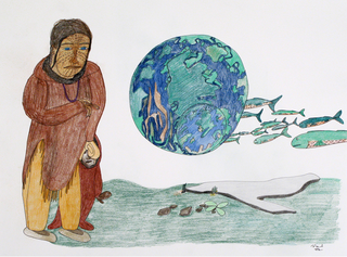 Old-Time Mother with the Earth,Shuvinai Ashoona