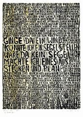 Buckower Elegien, Motto, Bertolt Brecht, Series II #2 of 8 images, Ilse Schreiber-Noll