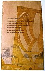 Buckower Elegien, Motto, Bertolt Brecht, Series III #3 of 22 images, Ilse Schreiber-Noll