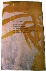 Buckower Elegien, Motto, Bertolt Brecht, Series III #8 of 22 images, Ilse Schreiber-Noll