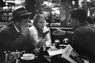 Heated debate between Godard and Jean Seberg about the scene, in the cafe on the Champs Elysees (A Bout De Souffle) , Raymond Cauchetier