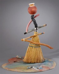 Broom and Palette Bottle, Richard Shaw