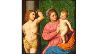 Madonna and Child with Saint Sebastian, Paris Bordone