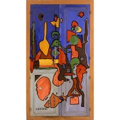Grande porte de bois peint , Gaston Chaissac