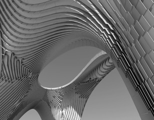 Pleated Shell Structures│Zaha Hadid Architects,