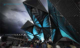 SCI-Arc Graduation Pavilion 2013│League of Shadows│P-A-T-T-E-R-N-S, Marcelo Spina