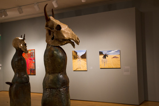 Sculpture- Lisa Osborn, Paintings (left)- Linda Trappey Dautreuil, (center and right)- Amy Guidry,